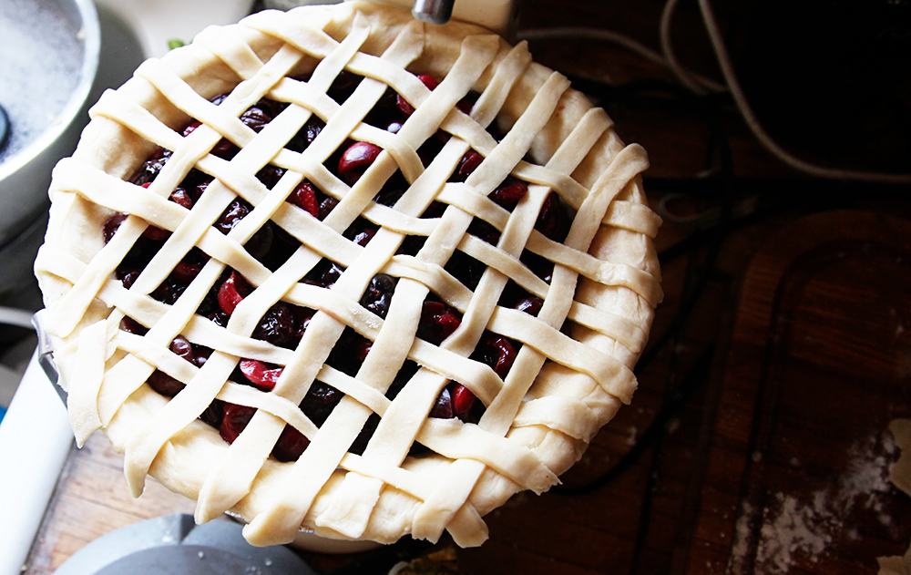 Three Cherry and Blueberry Pie