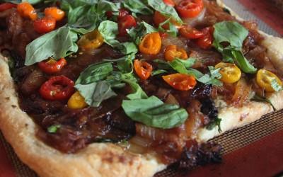 Vegan Puff Pastry and Tart Making Part Three: Carmelized Onion Tart